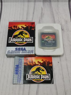 JURASSIC PARK Sega Game Gear Game BOXED Complete CIB VGC Very Good  - F09