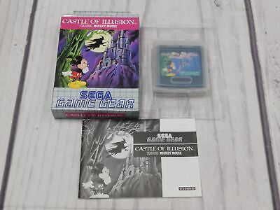 CASTLE OF ILLUSION Sega Game Gear Game BOXED Complete CIB VGC Very Good  - F09