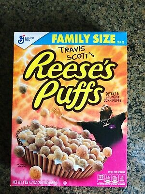Limited Travis Scott X Reeses Puffs Cereal - Family Sized - RARE!