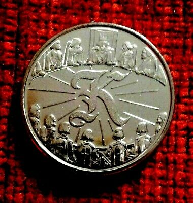 """2018 A-Z Letter K  """" King Arthur """"  Ten Pence Coin UNC from sealed bag"""