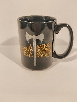 """Game of thrones GOT black TYRION LANNISTER Coffee Mug""""A mind needs books"""" quote"""