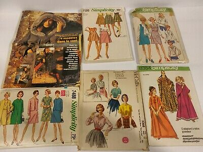 Vintage Lot 6 1950-90s Dress Clothing Sewing patterns McCall's, simplicity MCM