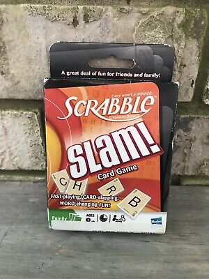 Scrabble Slam Cards by Parker Brothers Ages 8+ Family Game Name