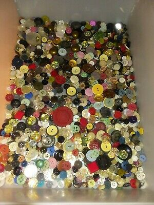 Vintage 2 lb. lot of Mixed Buttons!!  Estate Sale Find! All materials. Beautiful