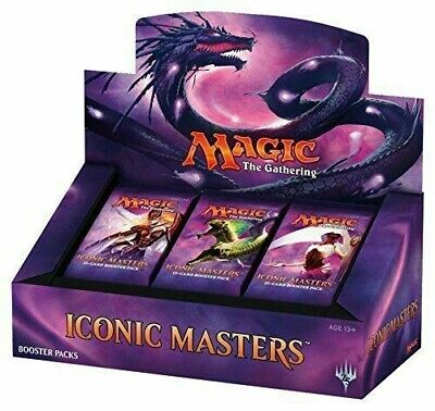 Magic The Gathering Mtg Iconic Masters Booster Box Sealed Free Shipping