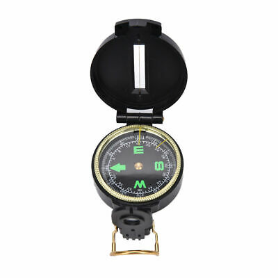 Metal Lensatic Compass Military Camping Hiking Style Survival Marching NEW J