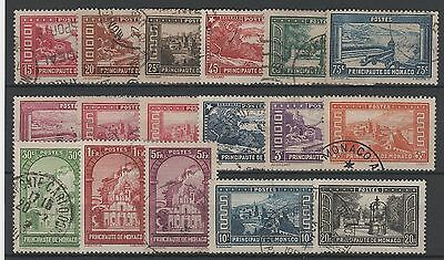 """Monaco Stamp N° 119 / 134 """" Serie Paysages 17 Timbres """" Obliteres Ttb  N781E"""