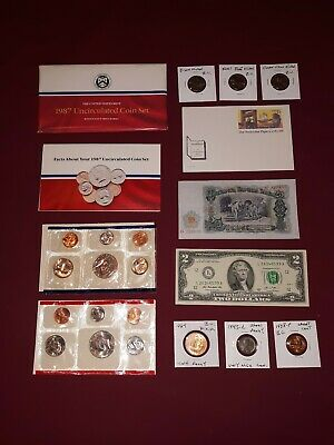 COIN LOT COLLECTION+MINT SET+$2+half cent+steel wheat+ NICKELS + no junk drawer