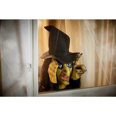 Halloween Window Witch Decoration Prop Haunted House Scary Decor Horror Life