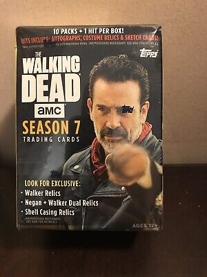 2017 Topps The Walking Dead Season 7 Blaster Box Exclusive New Sealed