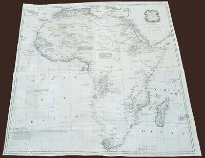 1765 Emmanuel Bowen Very Large Antique Map of Africa