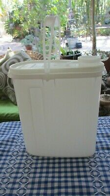 Vintage Tupperware sheer white Pour All Drink storer with carry   Fridge Storage