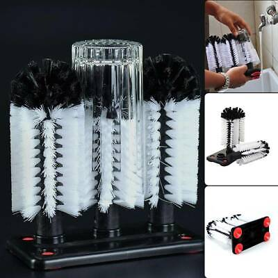 3 Brush Head Set wash cleaning glass cleaner wash stick fixed suction cup