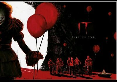 """IT"" Chapter Two Poster 2019 Odeon Exclusive, Part 2 of 2, Pennywise, NEW"