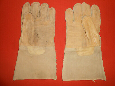 U.S.ARMY : U.S.M.C. 1944 WWII  -  Leather Gunner  Mittens Gloves.