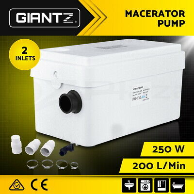 Macerator Sewerage Pump Waste Sewage Water Disposal Marine Basement Basin Clean