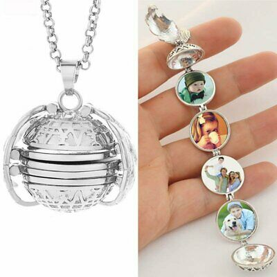 Charm Magic Photo Memory Floating Pendant Necklace Angel Wing Chain Jewellery