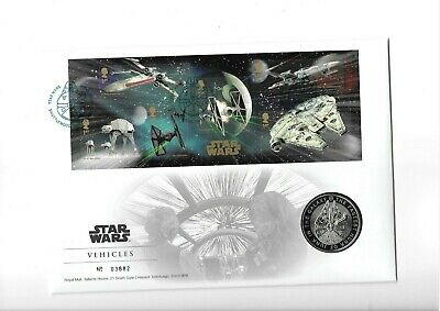 GB Coin Cover Star Wars Vehicles Commemorative Medal 2015