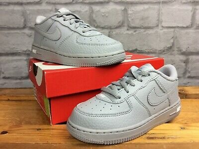 Nike Uk 8.5 Eu 26 Air Force 1 Grey Leather Trainers Boys Girls Childrens Lg