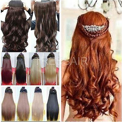 "24"" HAIR EXTENSION half head red plum ginger burgundy golden light ash brown"