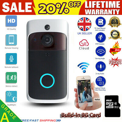 Smart Ring Video Doorbell Camera Wireless WiFi Security Phone Bell Intercom JO