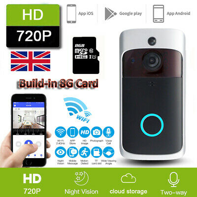 WiFi Wireless Video Doorbell Two-Way Talk Smart Door Bell Security Camera HD JO