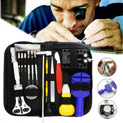 147Pcs Watch Repair Tool Kit Case Opener Link Spring Bar Remover Watchmaker Tool