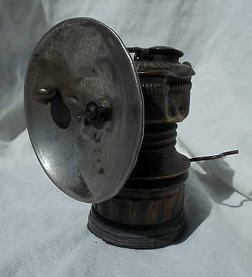 Used Vintage AZ Miners Small Guys Dropper Brass Carbide Hat Light