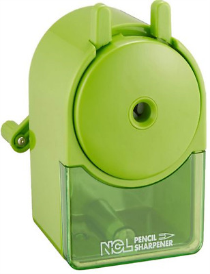 Hand Crank Pencil Sharpener Nakabayashi  Green DPS-H101KG Stationery Japan impor