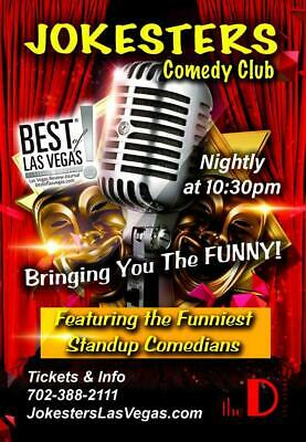 2 Tickets To Jokesters Comedy Club In Las Vegas