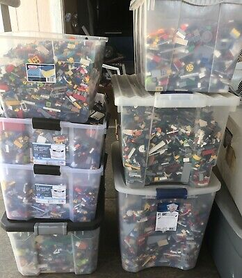 Huge Lego 100 pounds of Lego Bulk Lbs Mixed Themes Legos Lot #ZS82