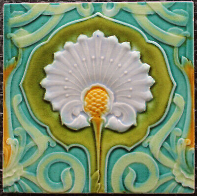Malkin Art Nouveau tile * NOTTINGHAM TILE FAIR ON 5 OCTOBER *