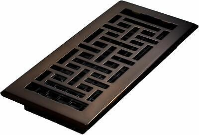 """Floor Register With Louvered Design Vent Cover Steel 4""""x10"""" - Rubbed Bronze"""