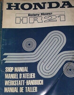 Honda Rotary Mower Hr2  Shop Manual  (Date Of Issue Aug 1978)