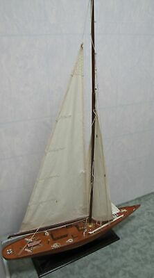 "37"" x 7"" x 54""Tall Wooden Sailboat Decor (350)"