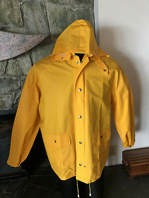 Classic Yellow Rain Slicker w/ Snap-off Hood  Weather-Rite  Style 8117  XL