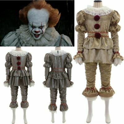 Halloween Pennywise Full Costume Scary Fancy Dress Unisex Adult Children