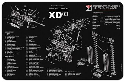 TEKMAT SPRINGFIELD ARMORY XDm Cleaning Mat 11