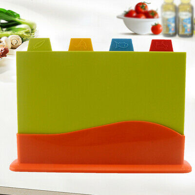 Multifunction With Stand Colour Coded Block Kitchen Chopping Board Set Meat