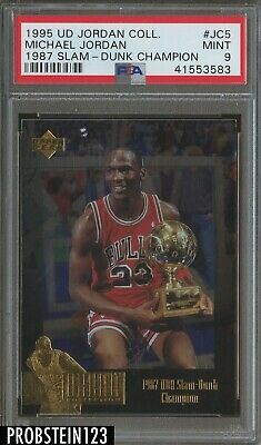 1995 UD Jordan Collection 1987 Slam Dunk Champion Michael Jordan HOF PSA 9