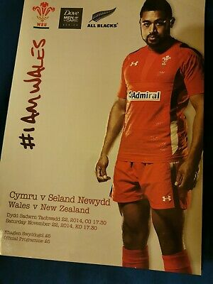 Wales v New Zealand 2014 Rugby programme signed by Richie McCaw