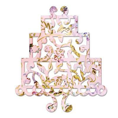 Sizzix Thinlits Dies - Three Tier Cake, Ornate Wedding Cake, Birthday Cake