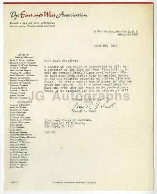 Pearl S. Buck - Nobel Prize, Pulitzer Prize Winning Author - Signed Letter, 1950