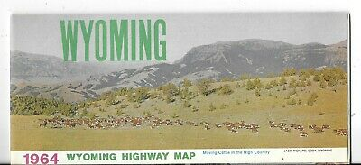 Official Vintage 1964 Wyoming Highway Map
