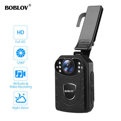 BOBLOV Full HD 1296P Body Worn Camera Audio Camcorder DVR Police Security Guard
