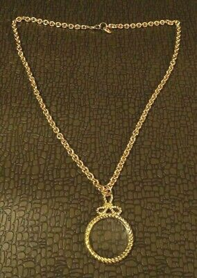 Vintage St. John Accessories Gold Tone Magnifying Glass Necklace