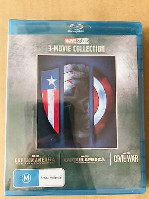 CAPTAIN AMERICA 1-3 Movie Collection [Blu-ray] Marvel Trilogy 1 2 3 Set US Selle
