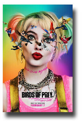 "Birds of Prey Movie Poster - 11""x17"" Harley Quinn Flying B SameDay Ship from USA"