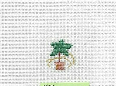 Hand Painted Needlepoint Canvas Susan Roberts **MINI TOPIARY STAR INSERT**