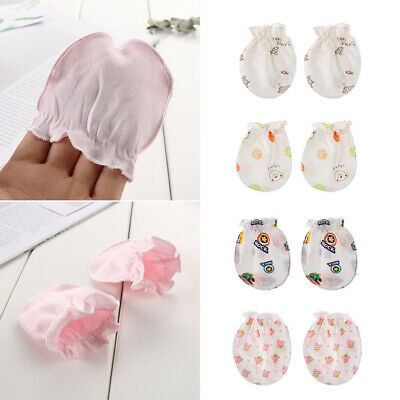 Soft Cotton  Newborn Infant  Face Protection  Baby Gloves Mittens Anti Scratch